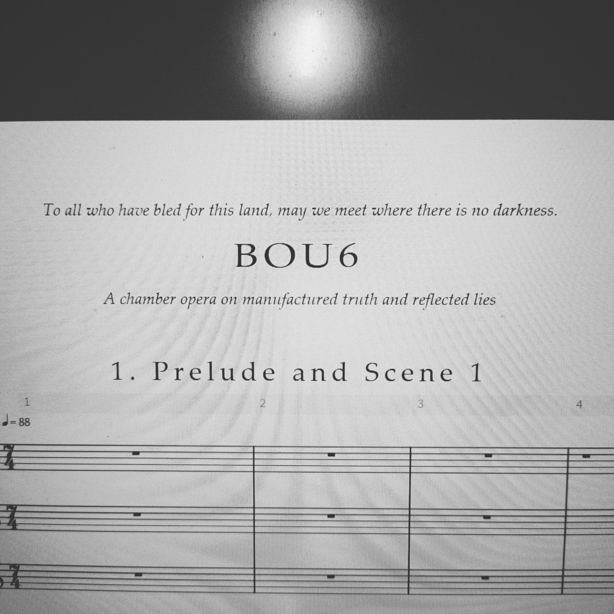 Title page of Bou6's full score.